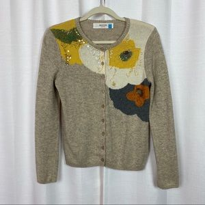 Sparrow Carlotta Beaded Oatmeal Cardigan Sz.M